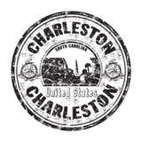 Sello de goma del grunge de Charleston Fotografía de archivo