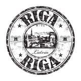 Sello de goma del grunge de la ciudad de Riga Fotos de archivo libres de regalías