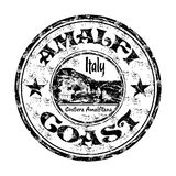 Sello de goma del grunge de la costa de Amalfi Fotos de archivo libres de regalías