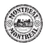 Sello de goma del grunge de Montreal Foto de archivo libre de regalías