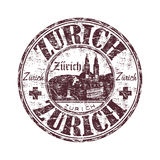 Sello de goma del grunge de Zurich Imagenes de archivo