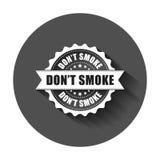 Sello de goma del grunge del humo del ` t de Don Ejemplo del vector con s largo stock de ilustración