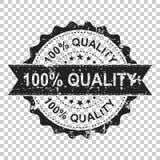 sello de goma 100% del grunge del rasguño de la calidad Ejemplo del vector encendido Fotos de archivo libres de regalías