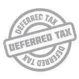 Sello de goma del impuesto diferido Imagen de archivo libre de regalías