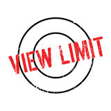 Sello de goma del límite de la visión libre illustration