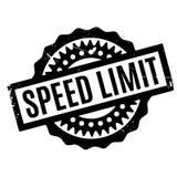 Sello de goma del límite de velocidad ilustración del vector