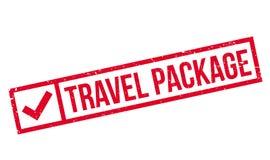 Sello de goma del paquete del viaje Imagen de archivo