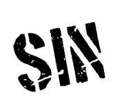 Sello de goma del pecado ilustración del vector