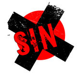 Sello de goma del pecado stock de ilustración