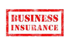 Sello de goma del seguro de negocio Fotos de archivo