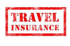 Sello de goma del seguro del viaje Foto de archivo
