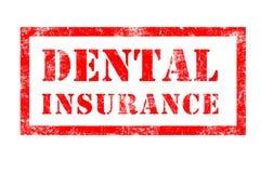Sello de goma del seguro dental Imagenes de archivo