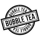 Sello de goma del té de la burbuja Fotos de archivo libres de regalías