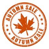 Sello de goma del vector de la venta del otoño Foto de archivo libre de regalías