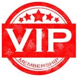 Sello de goma del vip de la calidad de miembro del Grunge en el fondo blanco Fotografía de archivo