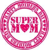 Sello de goma feliz del día de madres del Grunge, vector Fotos de archivo