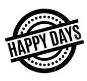 Sello de goma feliz de los días ilustración del vector