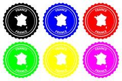 Sello de goma de Francia ilustración del vector