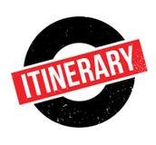 Sello de goma itinerario Fotografía de archivo libre de regalías