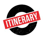 Sello de goma itinerario Imagen de archivo libre de regalías