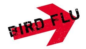 Sello de goma de la gripe aviar ilustración del vector