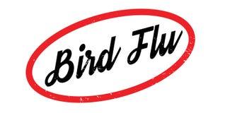 Sello de goma de la gripe aviar stock de ilustración