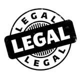 Sello de goma legal Fotografía de archivo libre de regalías