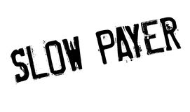 Sello de goma lento del pagador stock de ilustración