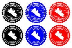 Sello de goma de Liberia stock de ilustración