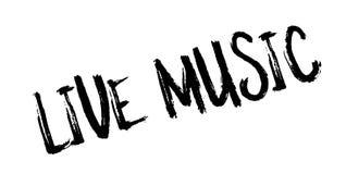 Sello de goma de Live Music stock de ilustración