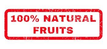 Sello de goma natural de 100 frutas del por ciento Imagen de archivo