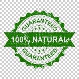sello de goma natural del grunge del rasguño del 100% Ejemplo del vector encendido Fotografía de archivo libre de regalías