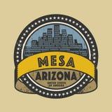 Sello de goma o etiqueta del Grunge con el nombre de Mesa, Arizona ilustración del vector