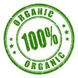 sello de goma orgánico 100 stock de ilustración