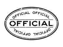 Sello de goma oval de la palabra oficial negra del Grunge en el fondo blanco stock de ilustración