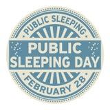 Sello de goma público del día el dormir Fotografía de archivo libre de regalías