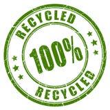 sello de goma reciclado 100 Foto de archivo libre de regalías