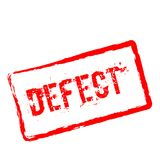 Sello de goma rojo del defecto aislado en blanco libre illustration