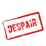 Sello de goma rojo de la desesperación aislado en blanco ilustración del vector