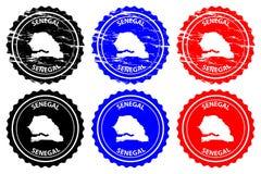 Sello de goma de Senegal libre illustration