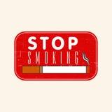 Sello de goma sucio para el día de no fumadores Fotos de archivo libres de regalías