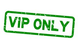 Sello de goma verde del sello del cuadrado de palabra del VIP del Grunge único en el fondo blanco foto de archivo libre de regalías