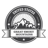 Sello de Great Smoky Mountains Stock de ilustración