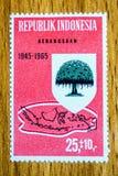 Sello de Indonesia del vintage imagenes de archivo
