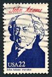 Sello de John Adams los E.E.U.U. Foto de archivo libre de regalías