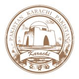 Sello de Karachi, Paquistán ilustración del vector