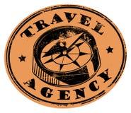 Sello de la agencia de viajes Foto de archivo
