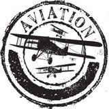 Sello de la aviación Foto de archivo libre de regalías