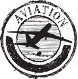 Sello de la aviación Fotografía de archivo libre de regalías
