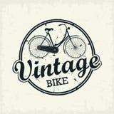 Sello de la bicicleta del vintage Imagen de archivo